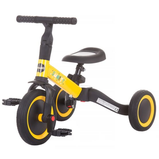 Tricicleta si bicileta Chipolino Smarty 2 in 1 yellow