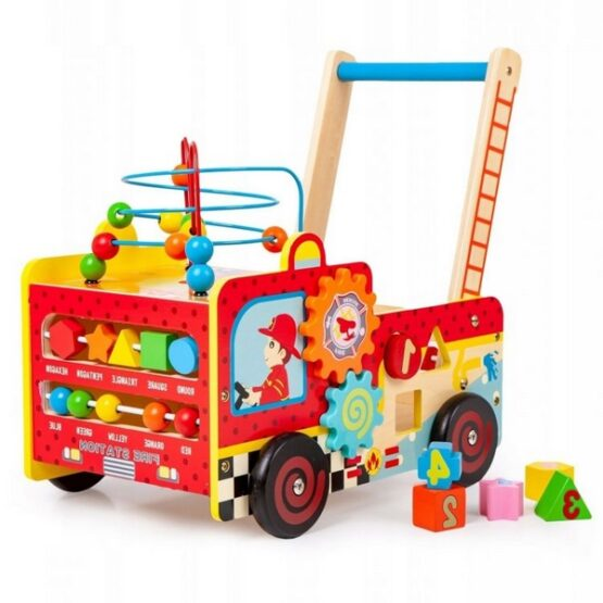 Antemergator educativ Pompieri Ecotoys HM013238, blocuri, labirint, multicolor