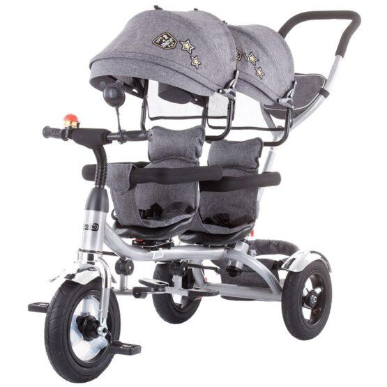 Tricicleta gemeni Chipolino 2Play grey