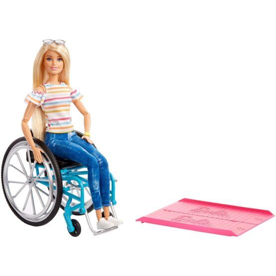 Papusa Barbie by Mattel Fashionistas papusa in scaun cu rotile si rampa