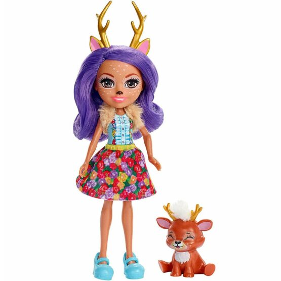 Papusa Enchantimals by Mattel Danessa Deer cu figurina