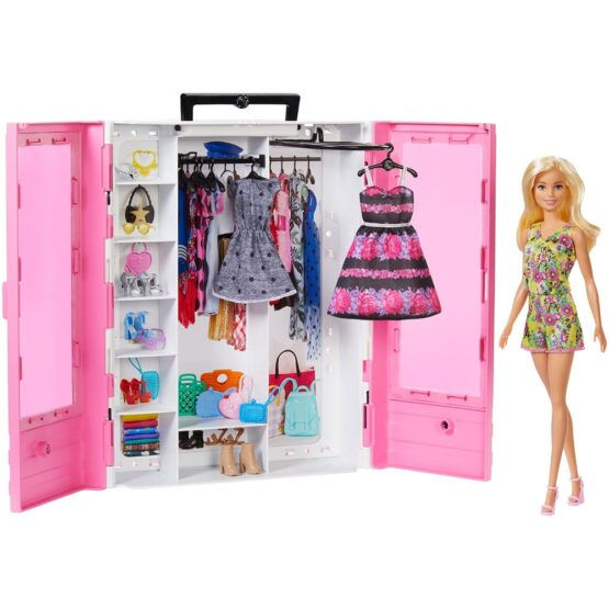 Set Barbie by Mattel Fashion and Beauty Dulap cu haine si papusa