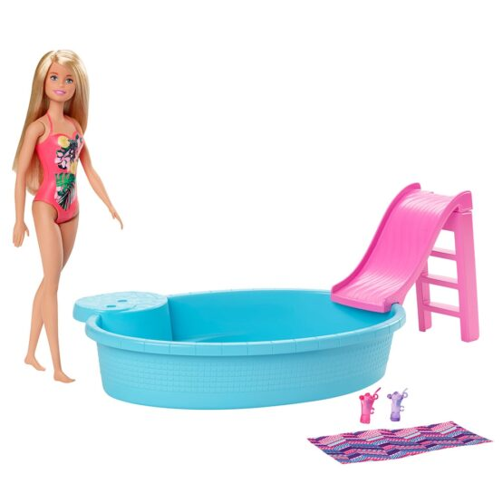 Set Barbie by Mattel Fashion and Beauty Piscina si papusa