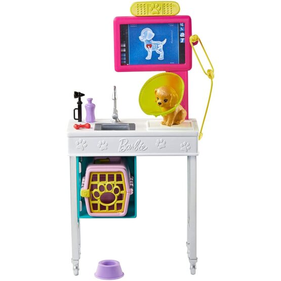 Set Barbie by Mattel I can be Cabinet veterinar GJL68 cu accesorii