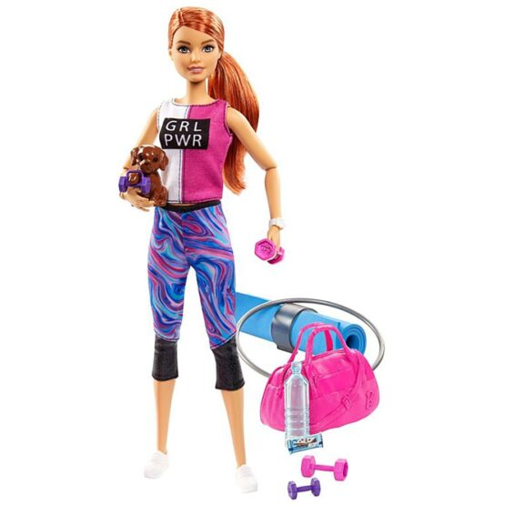 Set Barbie by Mattel Wellness and Fitness papusa cu figurina si accesorii GJG57