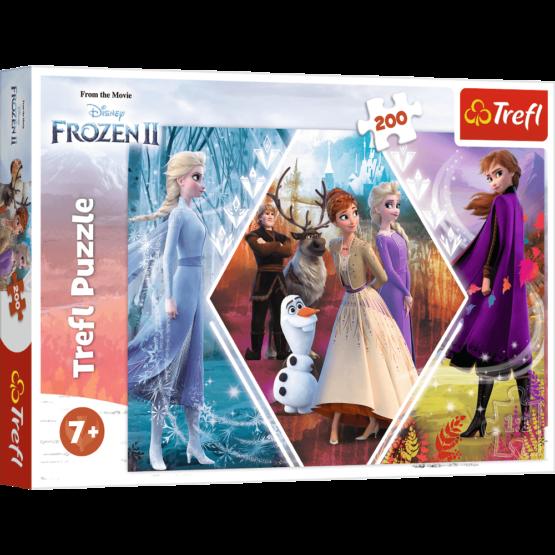 Puzzle Trefl Disney Frozen 2, Surorile in tinutul inghetat 200 piese