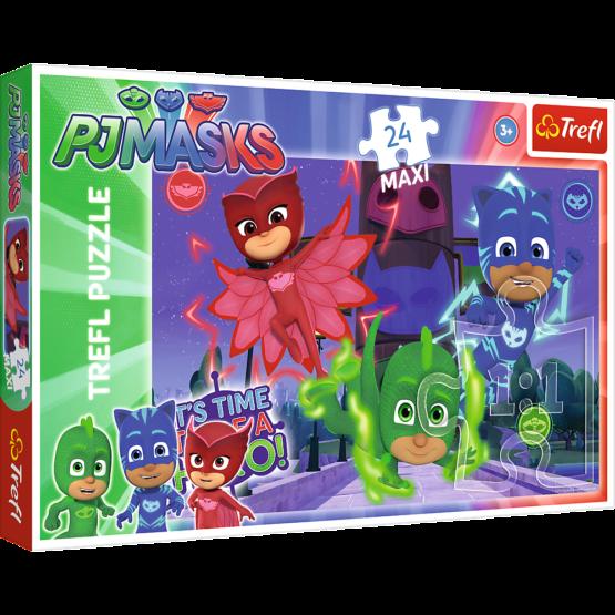 Puzzle Trefl Maxi Eroi in Pijama, Eroi Misteriosi 24 piese