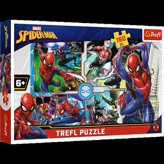 Puzzle Trefl Marvel Spider Man, Salvatorul 160 piese