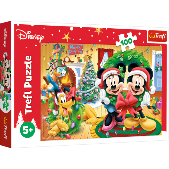 Puzzle Trefl Disney Mickey Mouse, Magia Craciunului 100 piese