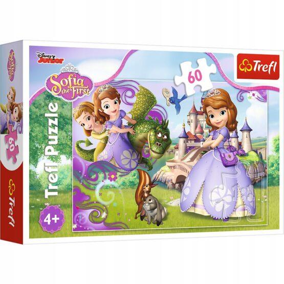 Puzzle Trefl Disney Sofia, Aventurile printesei Sofia 60 piese