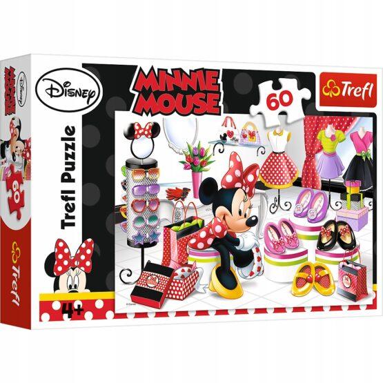 Puzzle Trefl Disney Minnie Mouse, La cumparaturi cu Minnie 60 piese