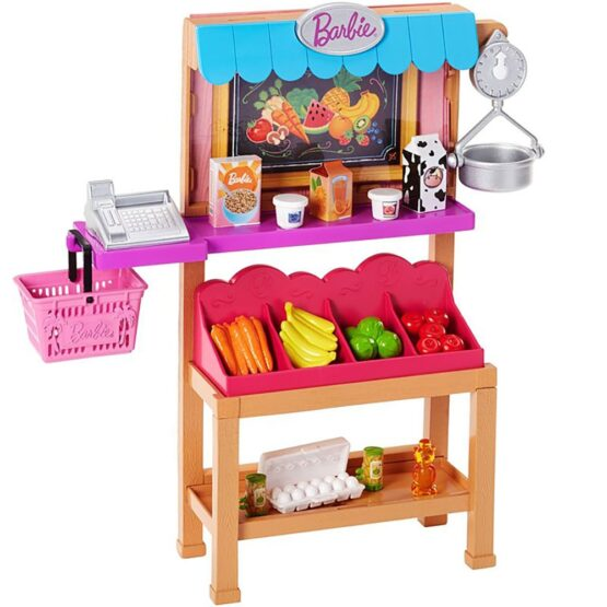 Set Barbie by Mattel I can be Magazin alimentar FJB27 cu accesorii