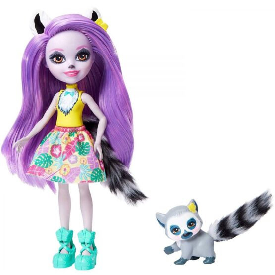 Papusa Enchantimals by Mattel Larisa Lemur cu figurina Rinolet