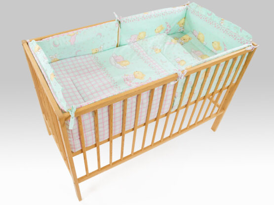 Lenjerie MyKids TEDDY STELUTE Turquoise M1 4+1 Piese 120×60 cm